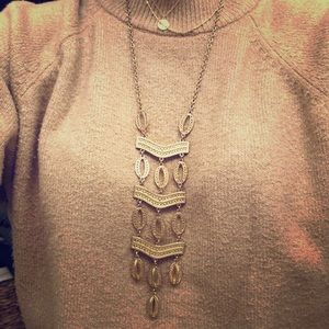 Stella and Dot long gold necklace